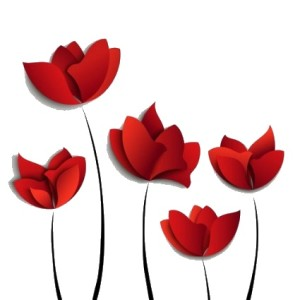 red_flowers_vector_278897
